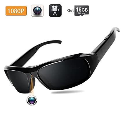 2dfe36eaea Image Unavailable. Image not available for. Colour  WISEUP 16GB 1920x1080P HD  Spy Sunglasses Hidden Eyewear Camera Mini DV Camcorder with Video Recording