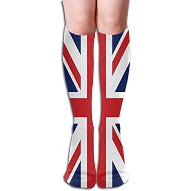 302fe0908 Image Unavailable. Image not available for. Colour  British Flag Women s  Fashion Knee High Socks ...