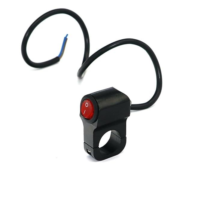Larcele Motorcycle Headlight Switch Waterproof 12V Black SBKG-01