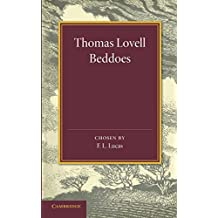 Thomas Lovell Beddoes: An Anthology (Poets in Brief)