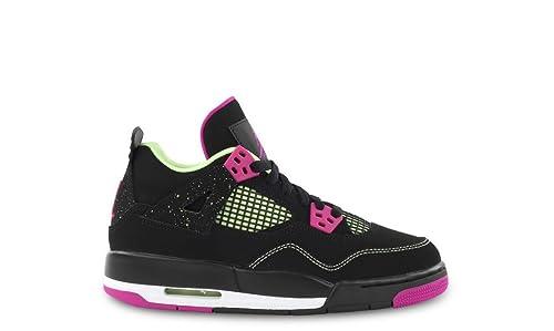 the latest a5f3c 54a38 Nike Air Jordan 4 Retro 30Th GG, Zapatillas de Running para Mujer, Negro/