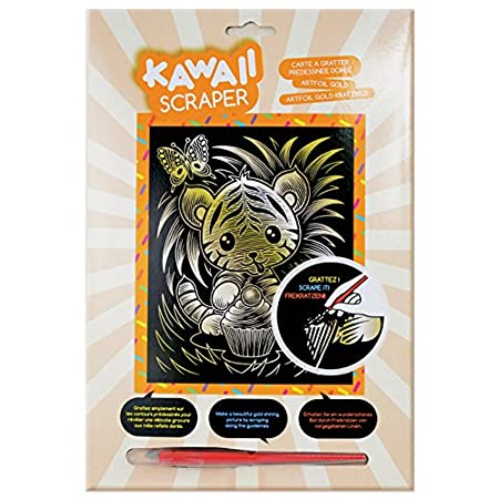 Sequin Art Kawaii Artfoil Puppy Kit Gold Geospace 61622