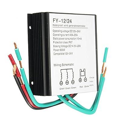 600W 12V/24V Waterproof Wind Turbine Generator Charge Controller Wind Controller Wind Controller