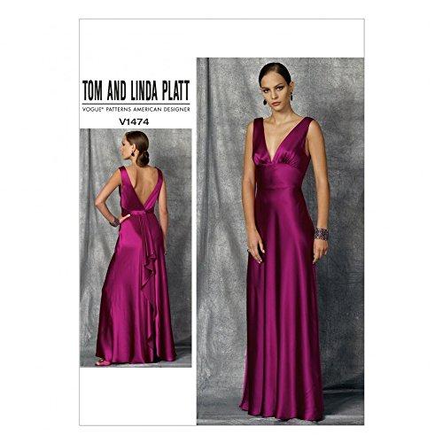 Vogue Ladies Sewing Pattern 1474 Bias Cut Floor Length Evening Dress