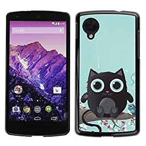 YOYO Slim PC / Aluminium Case Cover Armor Shell Portection //Cute Cat Creature //LG Google Nexus 5
