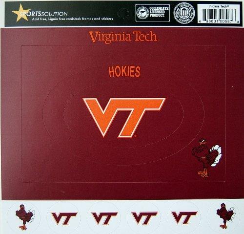 (Sports Solution Virginia Tech Hokies Cardstock Frame)