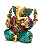 Ganesh Statue Brass Sculpture Hindu Lord God Figurine Ganesha Idol Diwali Gift
