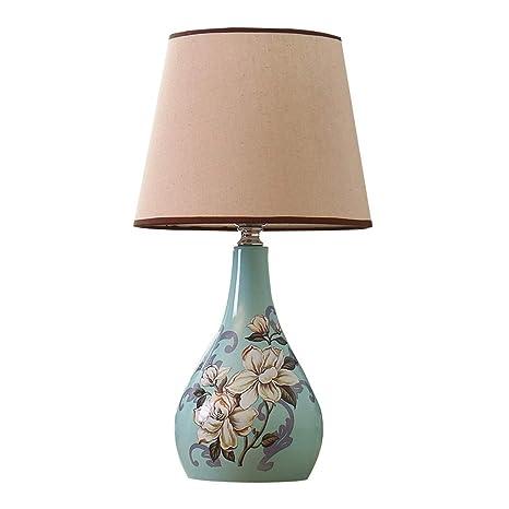 Zunruishop Bedside Lamp Lámpara de Mesa de Estilo Europeo ...