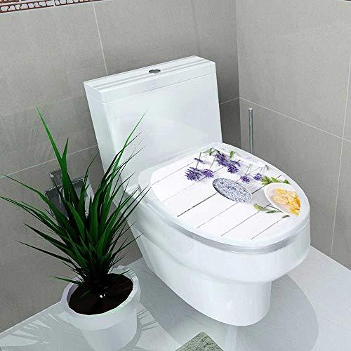 - Waterproof self-Adhesive Cosmetic Creams Lip Balm soap Bath Salt Herbal Flowers Toilet Seat Vinyl Art Stickers W13 x L16