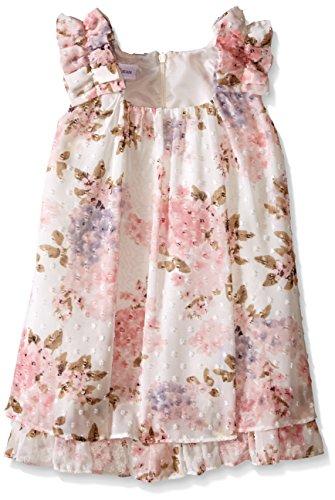 Bonnie Jean Girls' Toddler Printed Clip Dot Float Dress, Ivory, 2T