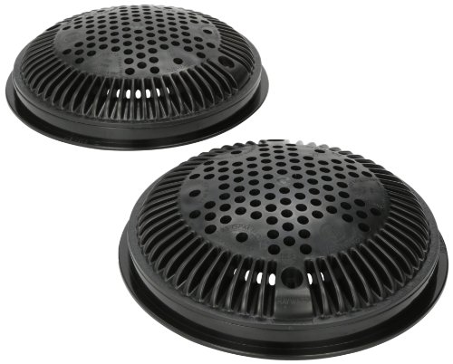Hayward WG1030AVBLKPAK2 Dual Suction Flow Drain Cover and Frame, Black