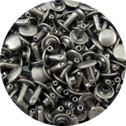 Springfield Leather Company's Antique Nickel Medium Double Cap Rivets 100pk