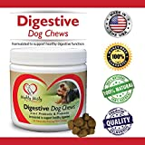 2-In-1 Dog Probiotic And Prebiotic Soft Chews By Mighty Misty: Natural Digestive Supplement With Enzymes For All Breeds, Relieves Irritable Bowels And Boosts Immune System, Chicken Flavor, 120 Bites