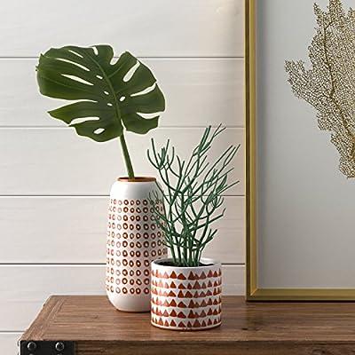 Stone & Beam Stoneware Planter with Terra Cotta Speckle Finish-P