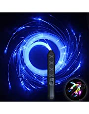HDXY Pixel Whip Rave Party Fiber Optic Whip Multicolor 6ft led Rechargeable Light up 360° Swivel Rave Glow Whip