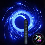 HDXY Pixel Whip Rave Party Fiber Optic Whip Multicolor 6ft led Rechargeable Light up 360° Swivel Rave Glow Whi