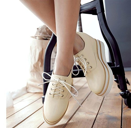 fondo ascensor CN38 Ms los zapatos mujeres mollete EU38 US7 UK5 de con los Spring grueso zapatos zapatos de las cordones 5 escogen 5 Z4qA4BSnw5