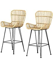 South Shore Furniture Rattan Dining Chair and Counter Stool