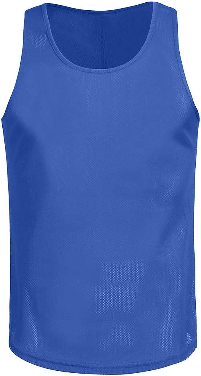 Camiseta de Tirantes Hombres Malla Cómodo Transpirables Moda Color ...