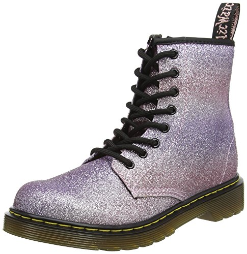 Dr. Martens Kids Girls Delaney GLTR Pink Multi Glitter Ankle Boots Size 3 for $<!--$85.00-->