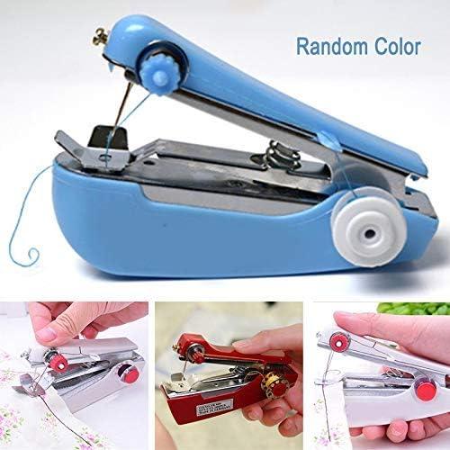 Ecosway Mini Máquina de Coser Portátil Manual Punto Tela Práctico Labores Herramienta Bricolaje ~ Aleatorio Color: Amazon.es: Hogar