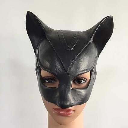 XIAO RUI Máscara de Catwoman Halloween Sexy Gato Negro ...