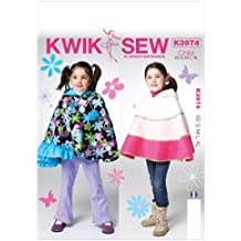 Kwik Sew Patterns K3974 Children/Girls Capes Sewing Template, All Sizes