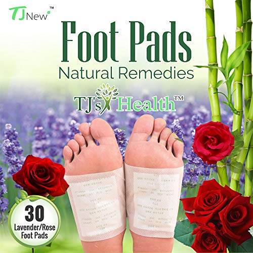 TJ's Health Organic Sleep Foot pads   30 rose & lavender feet patches to aid natural sleep   Clarity within (Primium Outlets)