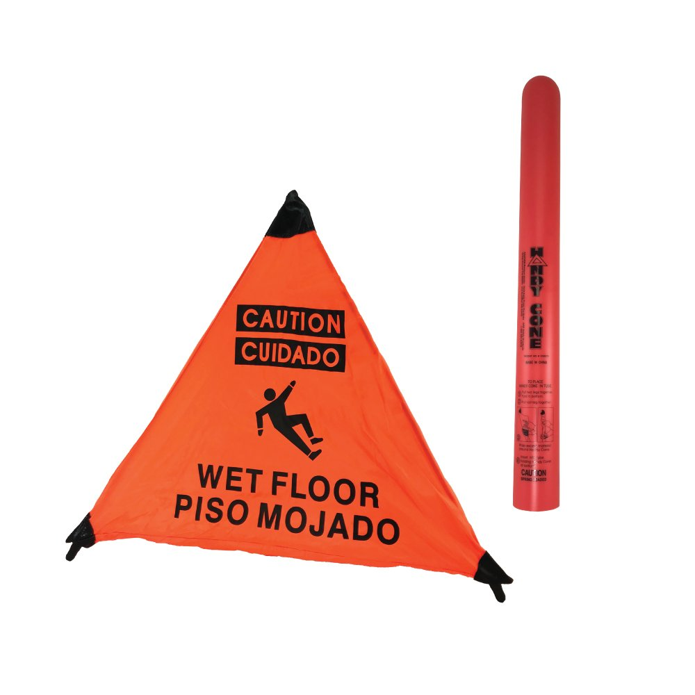3 Sided Wet Floor Sign English/Spanish