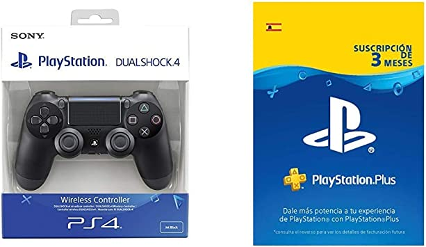 Sony - Dualshock 4 V2 Mando Inalámbrico, Color Negro V2 (PS4) + ...