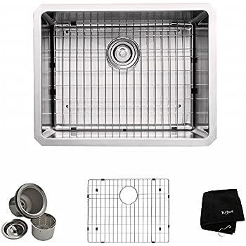 kraus khu10123 23 inch undermount single bowl 16 gauge stainless steel kitchen sink