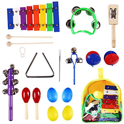 Musical Toys Age 7 : Kids musical instruments wooden percussion birthday gift