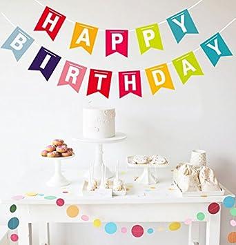 Opret Happy Birthday Pancartas Feliz Cumpleaños Colorido ...