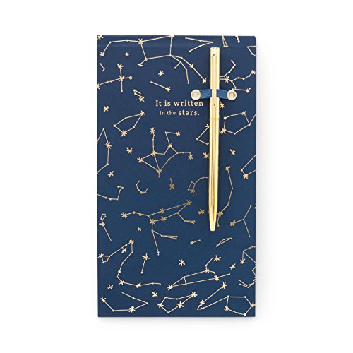 Design Works Ink Note Pad with Pen, Chunky 4.5 x 8-Inch, Constellations by DesignWorks Ink