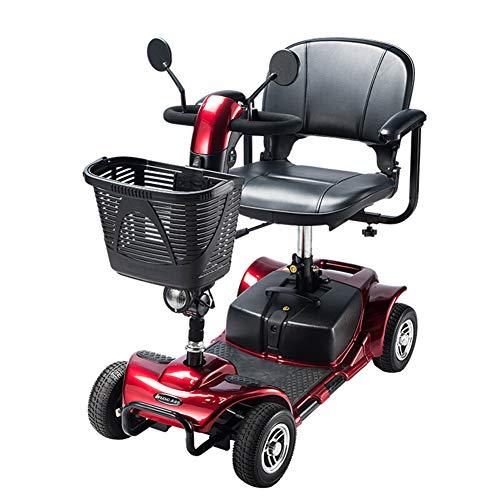 ACEDA Scooter Mobility | Vehículo De Movilidad | Moto Minusválidos | Moto para Personas Mayores | 4 Ruedas | Apoyabrazos...