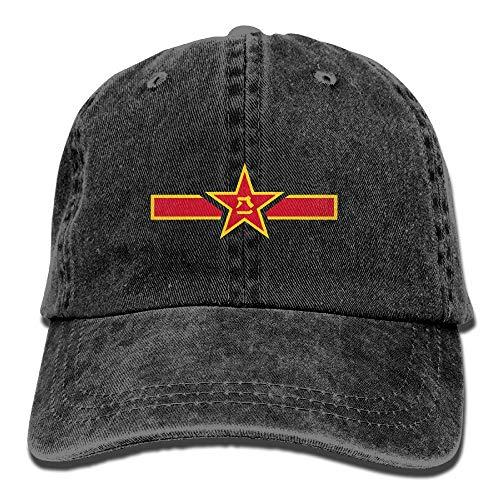 (People Liberation Army Denim Dad Cap Baseball Hat Adjustable Sun Cap)