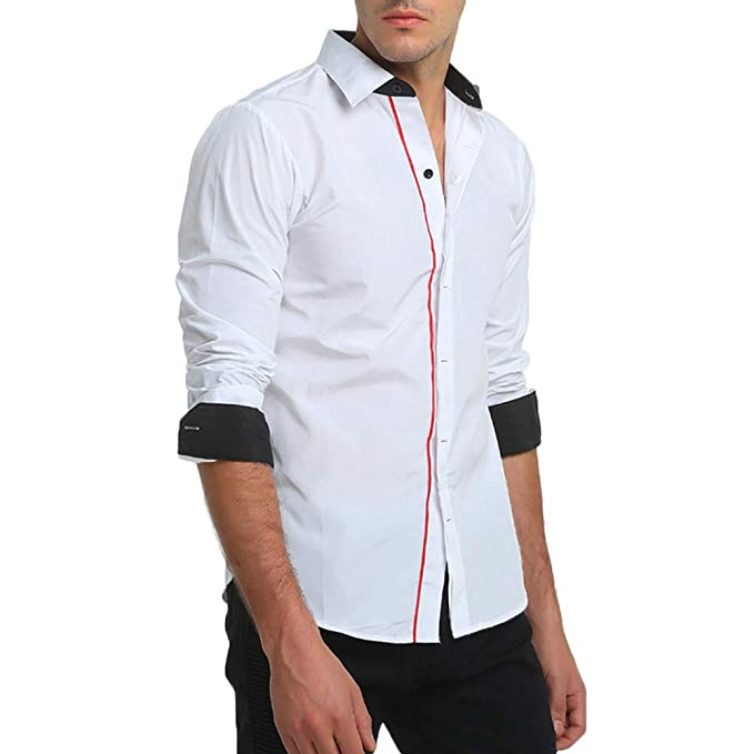 Internet Otoñal De Para Hombre Ropa Accesorios Camisa Camuflaje Botones Vestir Amazon Con Manga Y Larga es 8wnq4PdBw