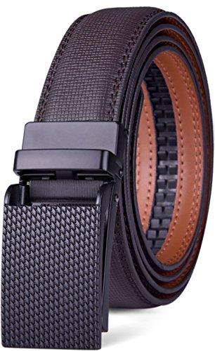 Adjustable Cluster (Glee&Cluster Genuine Leather Belt For Men – Ratchet Dress Belt With Automatic Buckle - 1.25