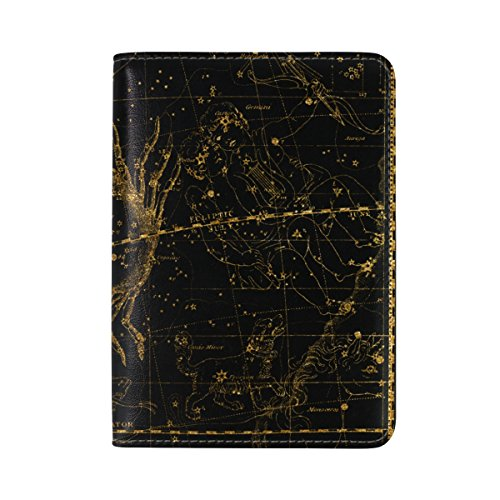 Case Travel Atlas (AHOMY World Map Celestial Atlas Passport Cover Holder Case Travel Protector Card)