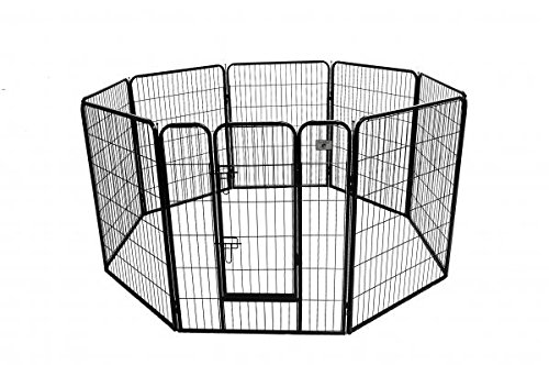 Indoor Dog Pens (BestPet Heavy Duty Pet Playpen Dog Exercise Pen Cat Fence B, 40-Inch, Black)