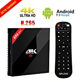 [ 2018 NEWEST VERSION ] H96 PRO 3GB/32GB Smart TV BOX Android 7.1 OS Octa Core S912 Set Top Box with 2.4G+5.0G Dual WIFI & Bluetooth 4.1 & 1000M LAN Support 4K Movies