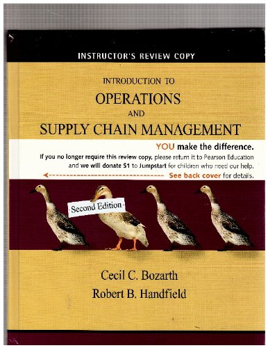 Introduction to Operations and Supply Chain Management (Intructor's Review Copy)