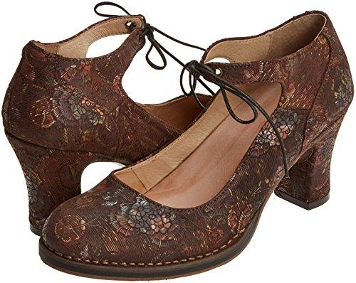S278 Neosens Zapatos Correa floral Colores Floral Mujer De Para Fantasy Varios baladi Tobillo Con Brown Brown axnHnAUf