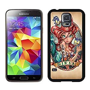 Personalized Ariel The Little Mermaid Unique Custom Black Case For Samsung Galaxy S5 Case