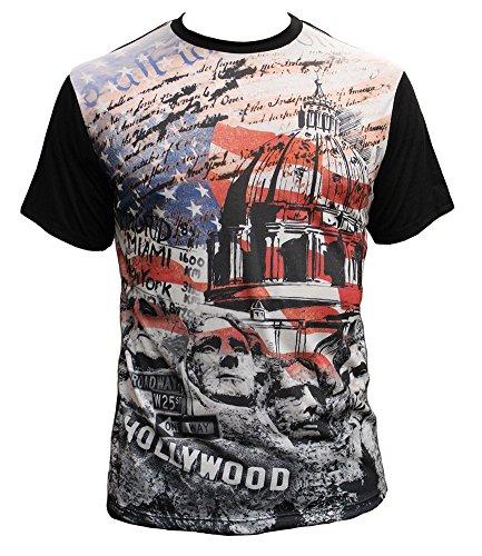 Mens American Patriot Sublimation T-Shirt - X-Large