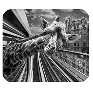 Funny Giraffe Personalized Rectangle Mouse Pad