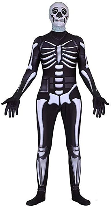 Gobbuy Fortnite Skull Trooper Disfraces de Halloween Traje de ...