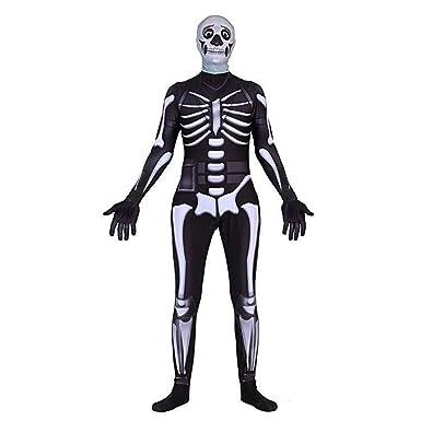 Amazon Com Skull Trooper Fortnite Costume Skull Trooper Costume