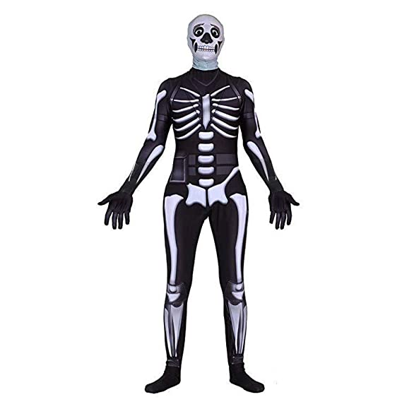 Gobbuy Fortnite Skull Trooper Disfraces de Halloween Traje ...