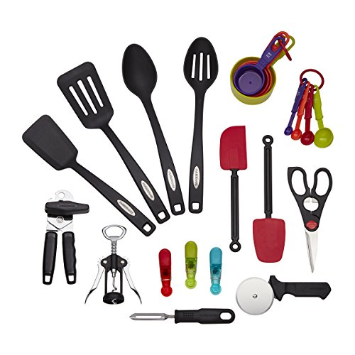Farberware 22-Piece Essential Tool and Gadget Set (Plastic Handle Basting Spoon)